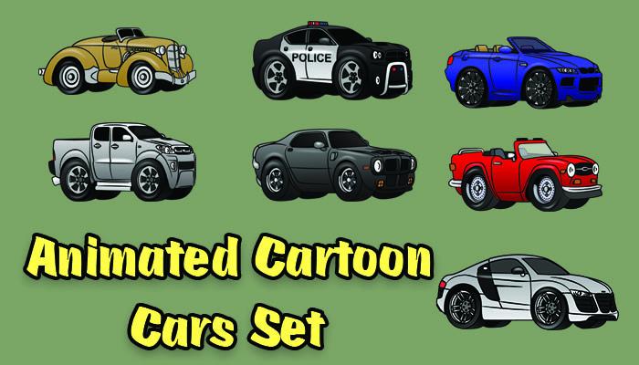 2d Animated car set