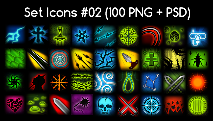 Skill Icon Pack 02