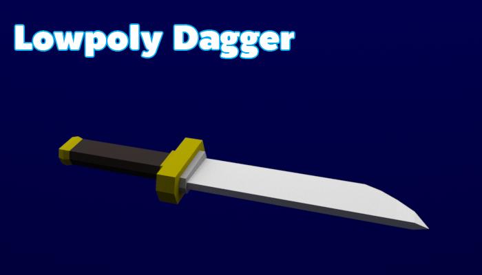 Lowpoly Dagger