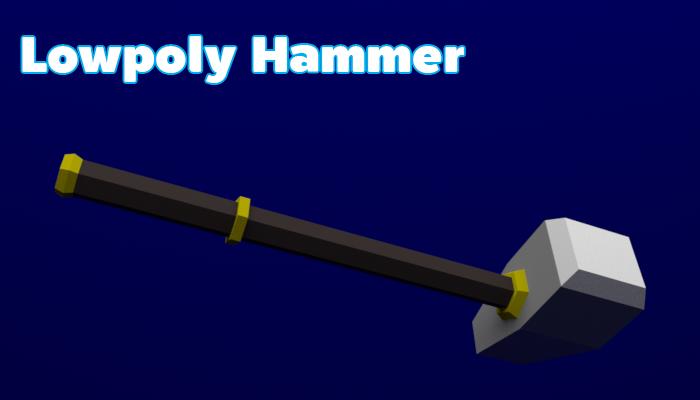 Lowpoly Hammer