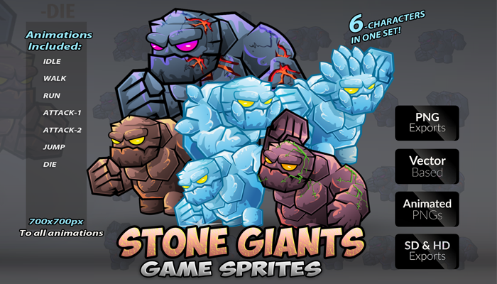 Stone Giants Character Sets