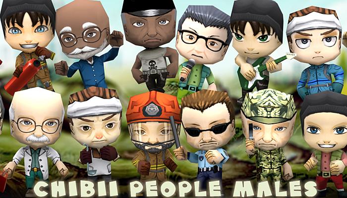 3DRT – Chibii People Males