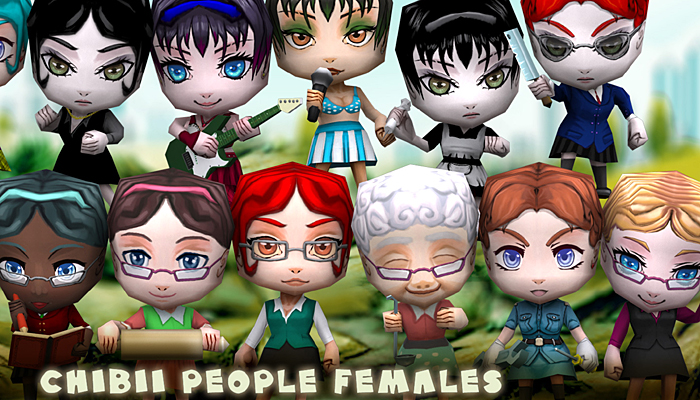 3DRT – Chibii People Females