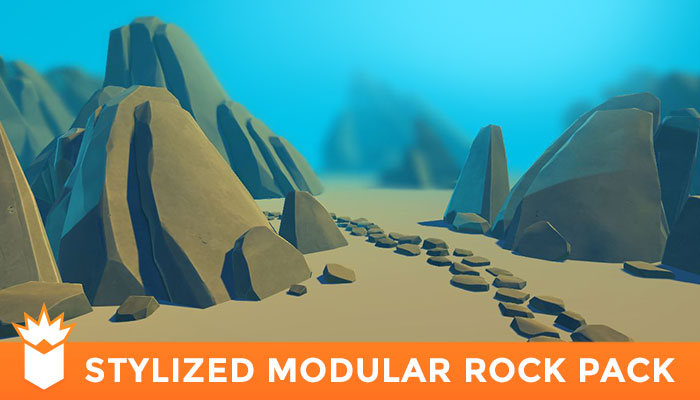 Stylized Modular Rock Pack