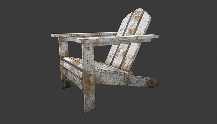 Old chair for garden