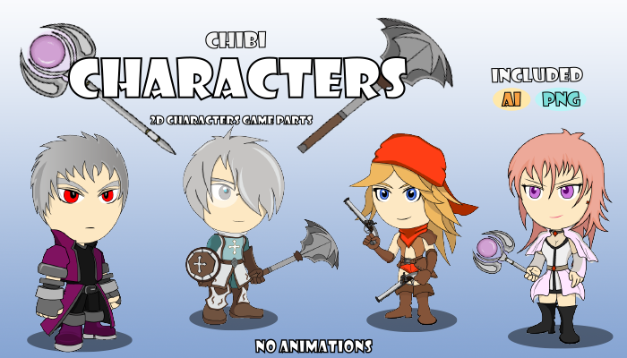 Chibi Characters 2D Games