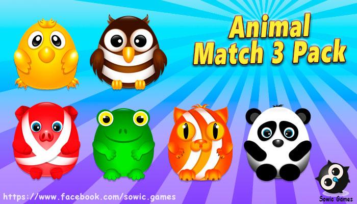 Animal Match 3 Pack