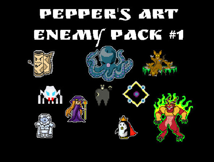 2D Pixel Enemy Pack 1 – Pepper's Art