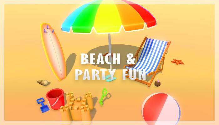 Cartoon Beach Party Models Pack