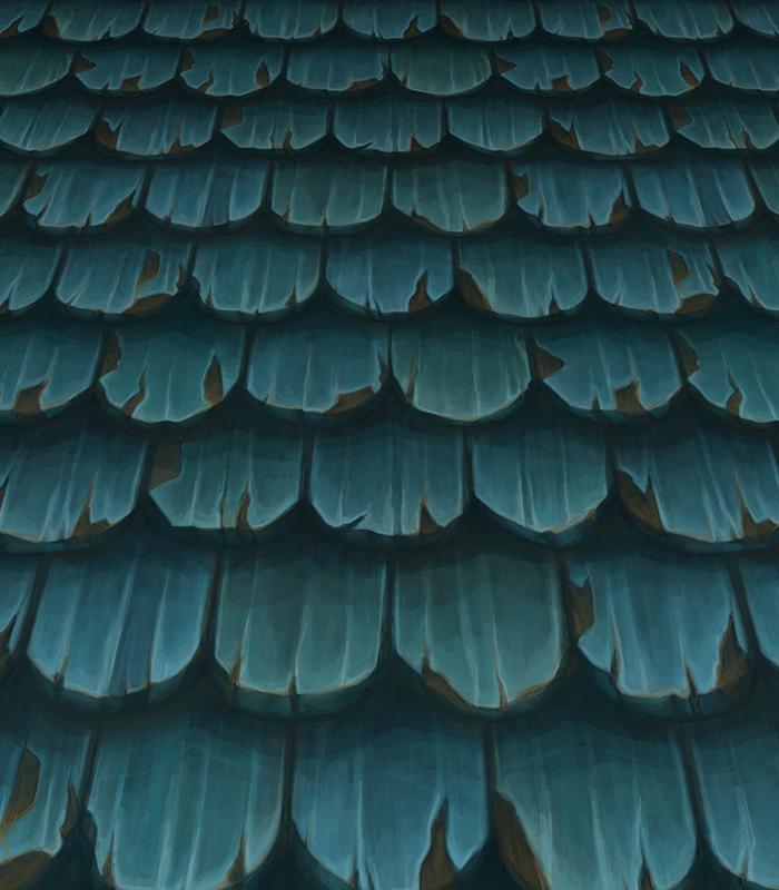 Handpainted Roof 2