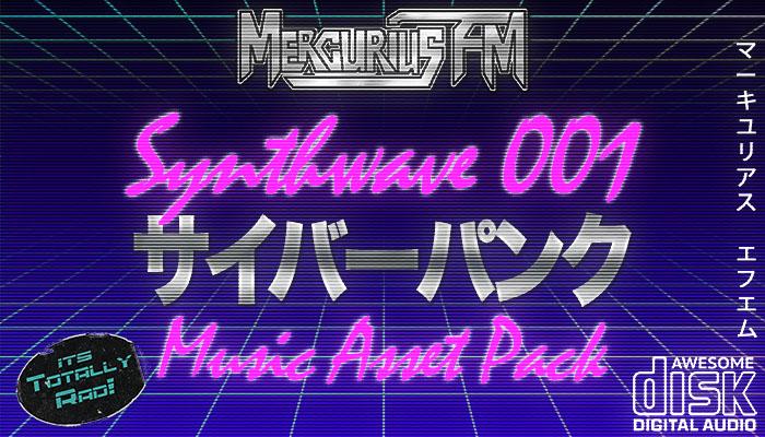 Synthwave 001 Cyberpunk Music Asset Pack