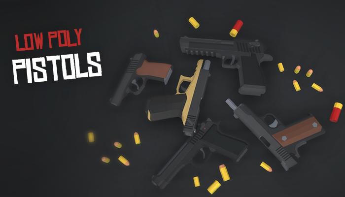 Low Poly FPS Pistols