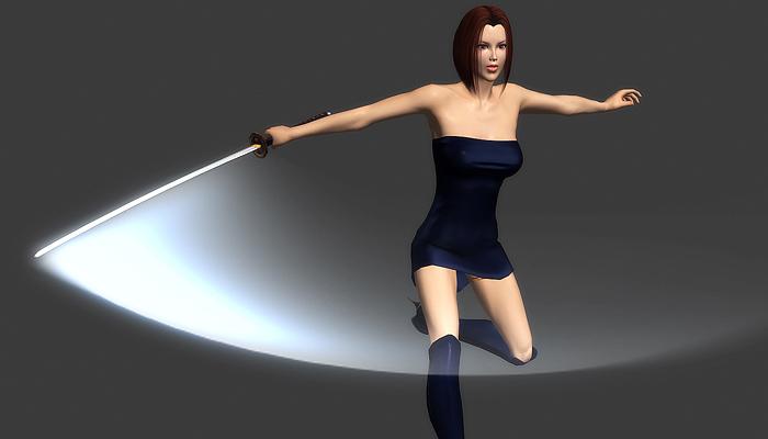 3Dfoin – Female Ninja