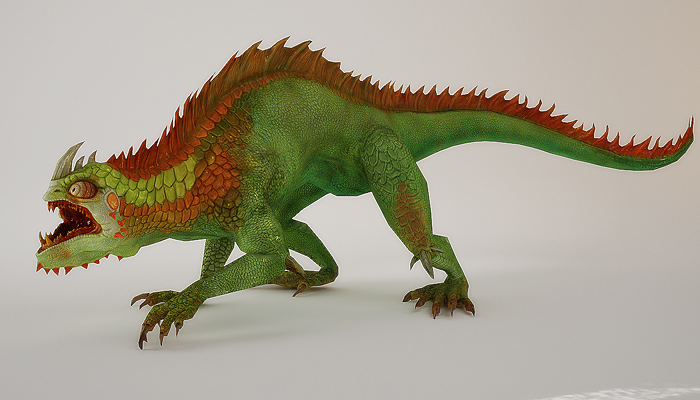 3Dfoin – Fantasy Lizard