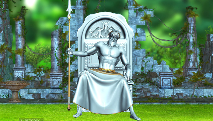 3Dfoin – Ancient God Statue