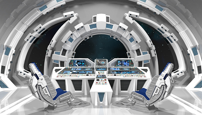 Spaceship. Command room.