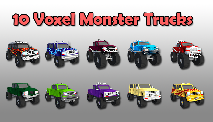10 Voxel Monster Trucks