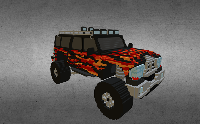 Voxel Monster Truck 01