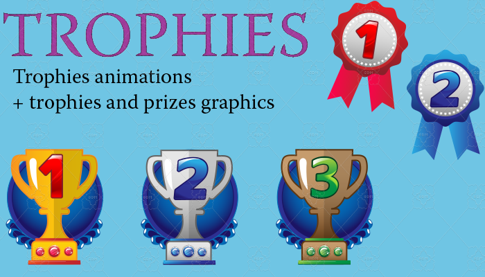 Trophies and prizes set