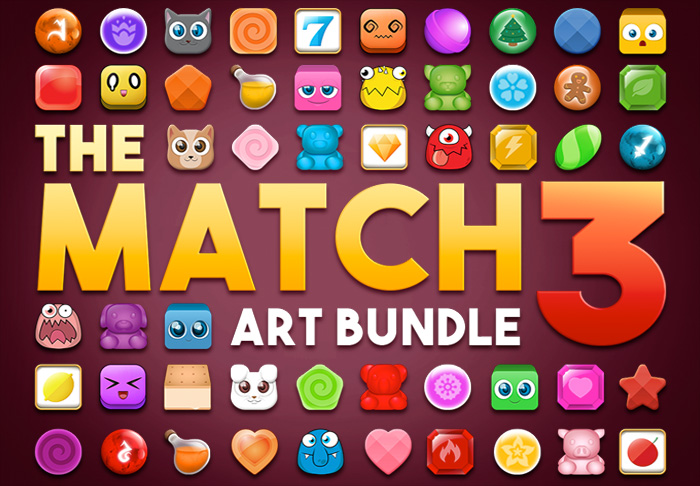 The Match 3 Art Bundle