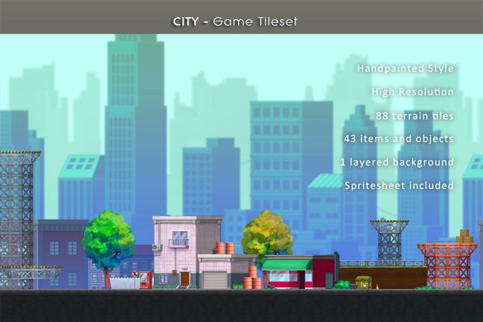 City – Game Tileset