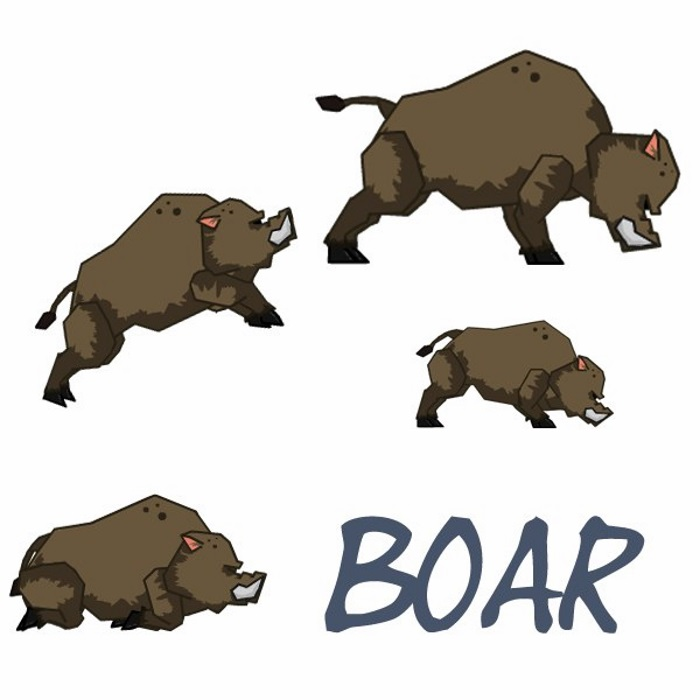 Brown boar
