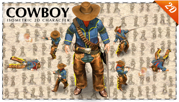 2D Cowboy with rifle