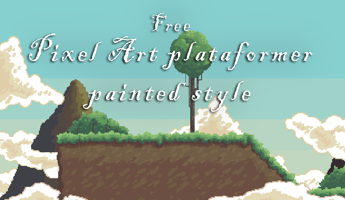 Free Pixel Art plataformer painted style