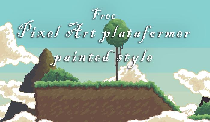 Free Pixel Art plataformer painted style