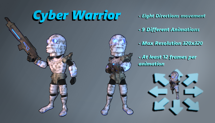 Cyber Warrior 3 Top Down Shooter3