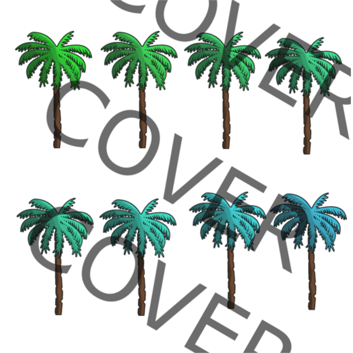 Color Animated Palm Tree