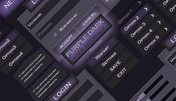 Purple dark UI