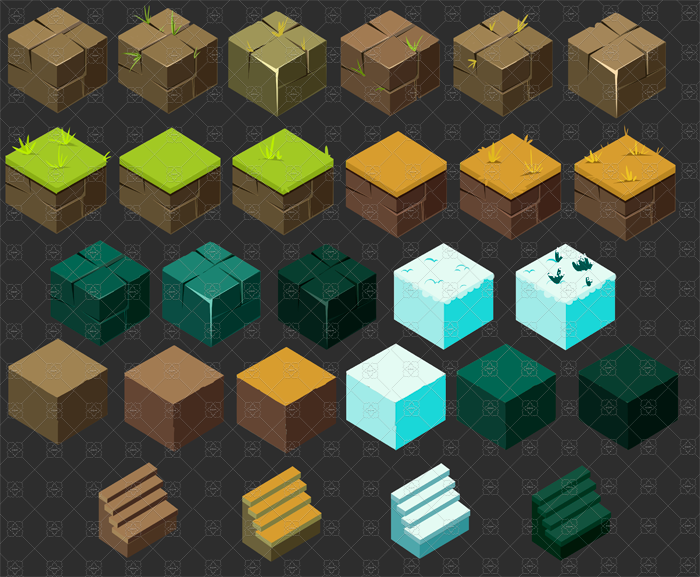 Isometric Ground Blocks