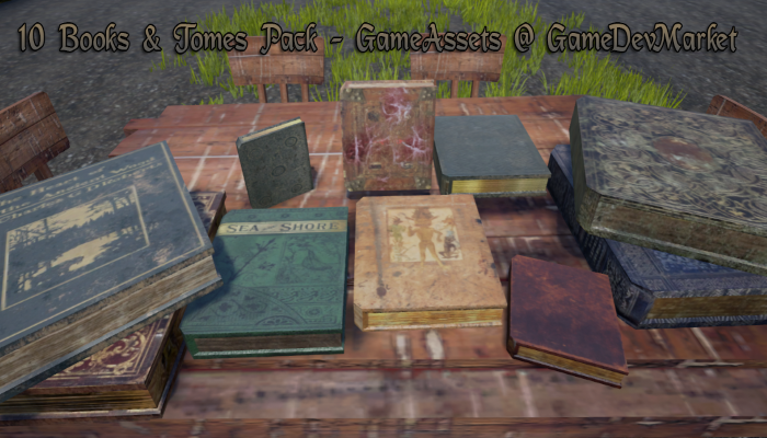10 Books and Tomes Pack