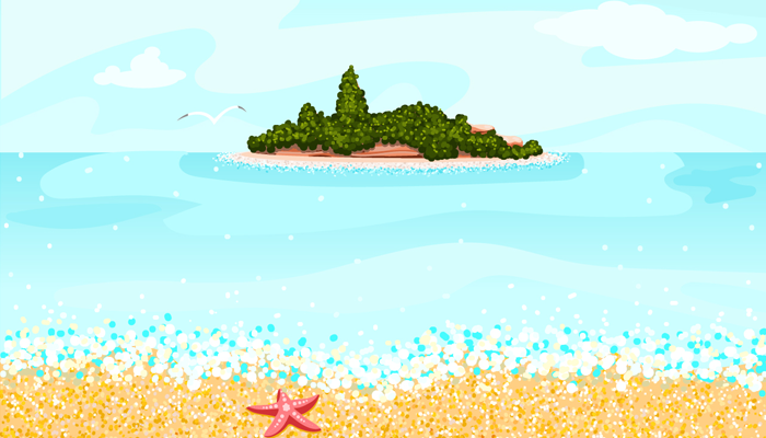 Beach 2D game background