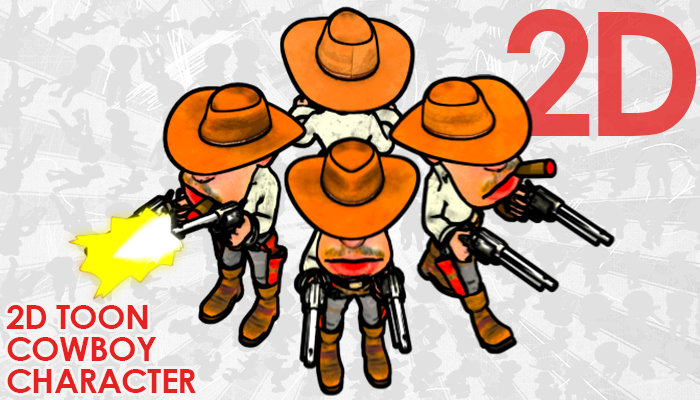 2D Toon Two Guns Cowboy
