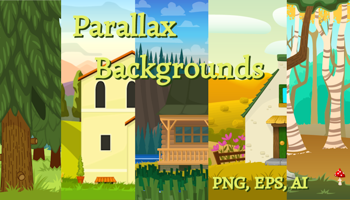 Parallax Backgrounds set 3
