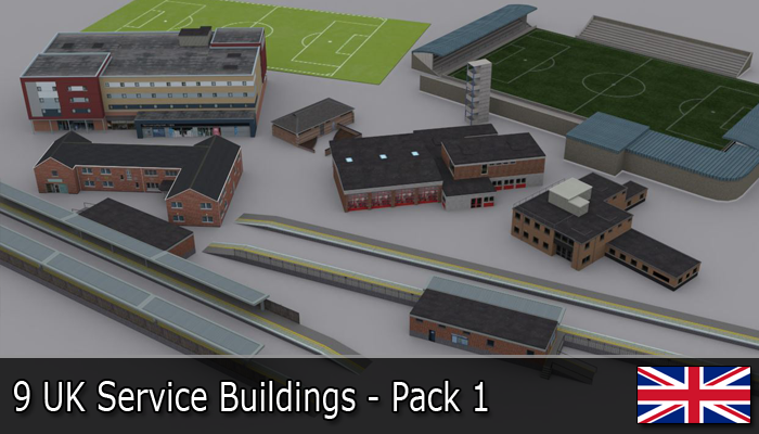UK Service Buildings Pack 1