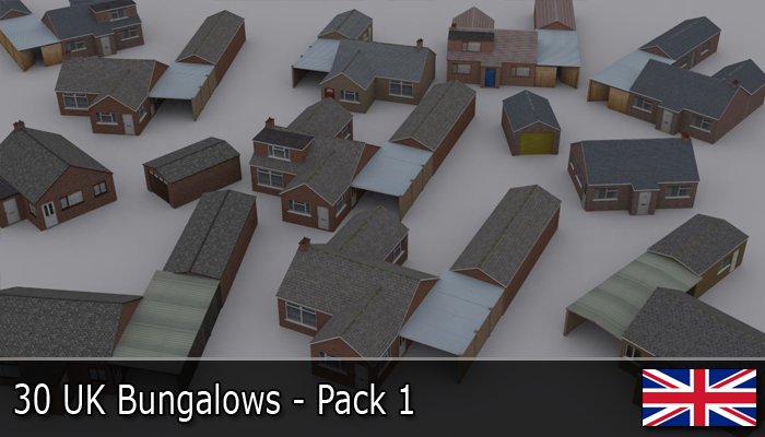 UK Bungalows Pack 1