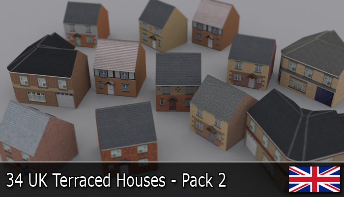 UK Terraced Houses Pack 2
