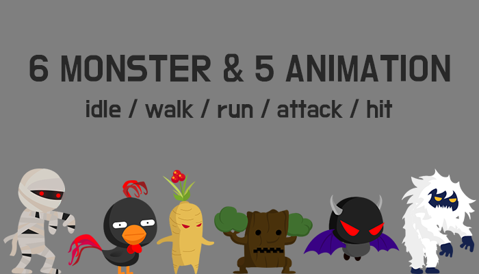 6 monster 5 animation