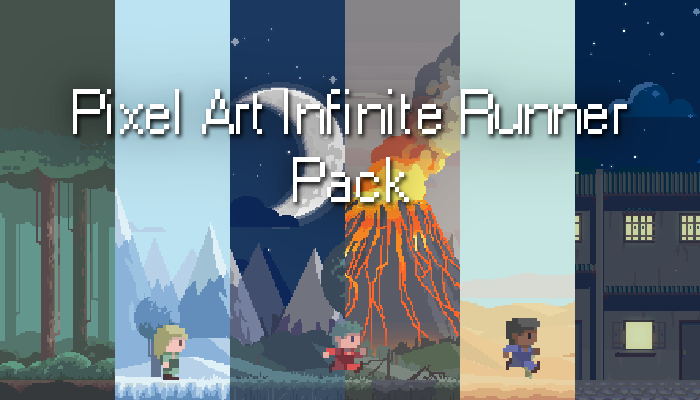 Pixel Art Infinite Runner – Pack