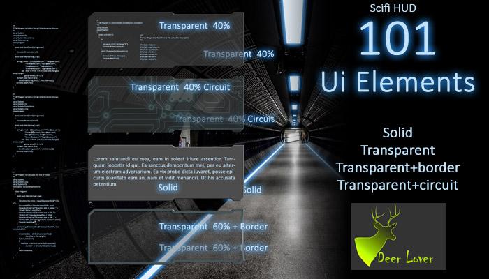 101 Scifi UI Panels