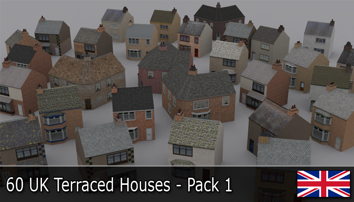 UK Terraced Houses Pack 1