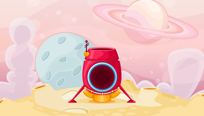 Bubble Space shooter Vector set