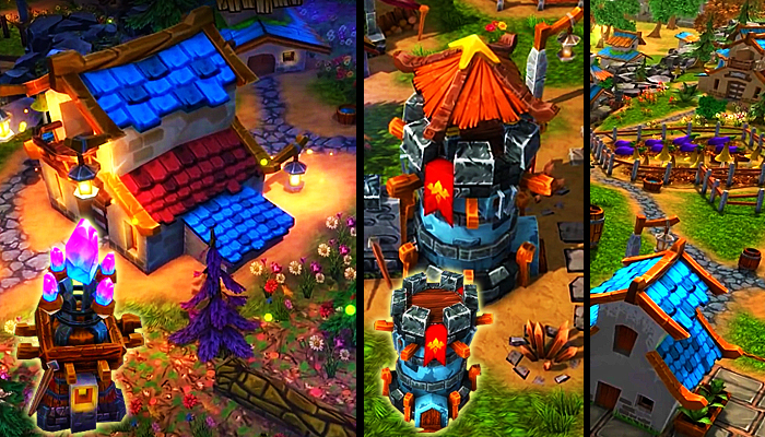 Fantasy Village and Tower Defense
