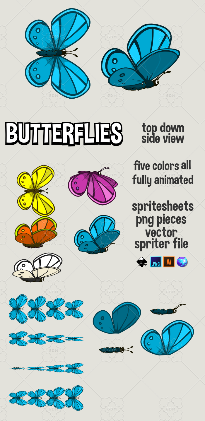 Animated butterflies