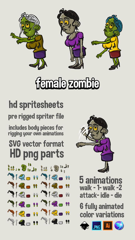 female zombie