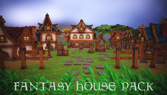 Fantasy modular house pack