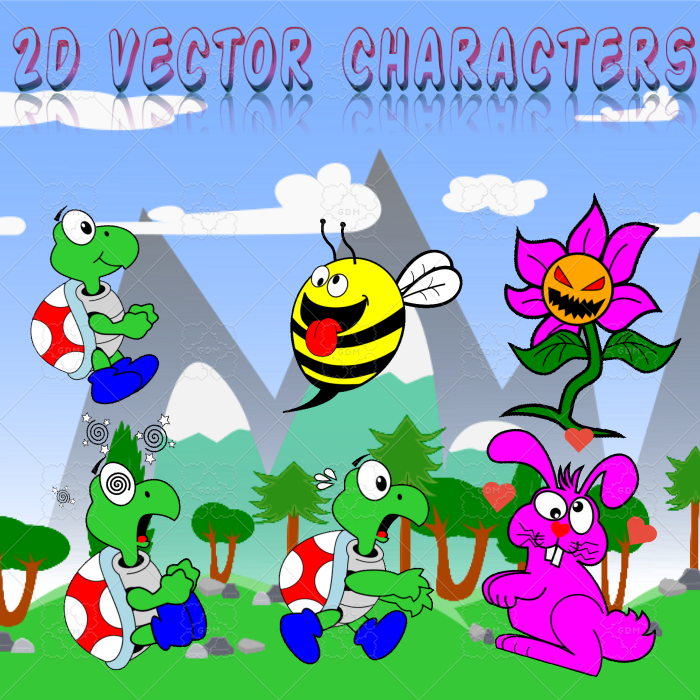 Animated 2D Vector characters